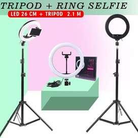 Tripod dan ring light 26 cm
