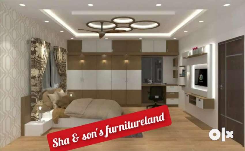 New bedroom set full bedroom furnitur for holi offer per sqr feet 1000