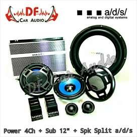 Paket Audio Sub pwr split ADS [ DF Car Audio]