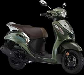 Yamaha fascino  RS.3999(Full tank petrol free)No income proof required