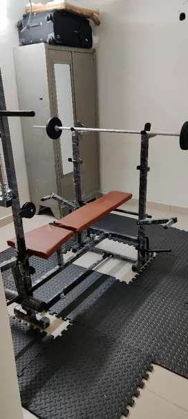 HASTAG 20 IN 1 GYM COMBO BENCH - 80 KGS WEIGHT