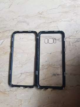 Magnetic protective case for Samsung S8
