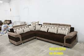 Brand New Sofa Set With 8 Free Throw Pillows Brown WDC-1005