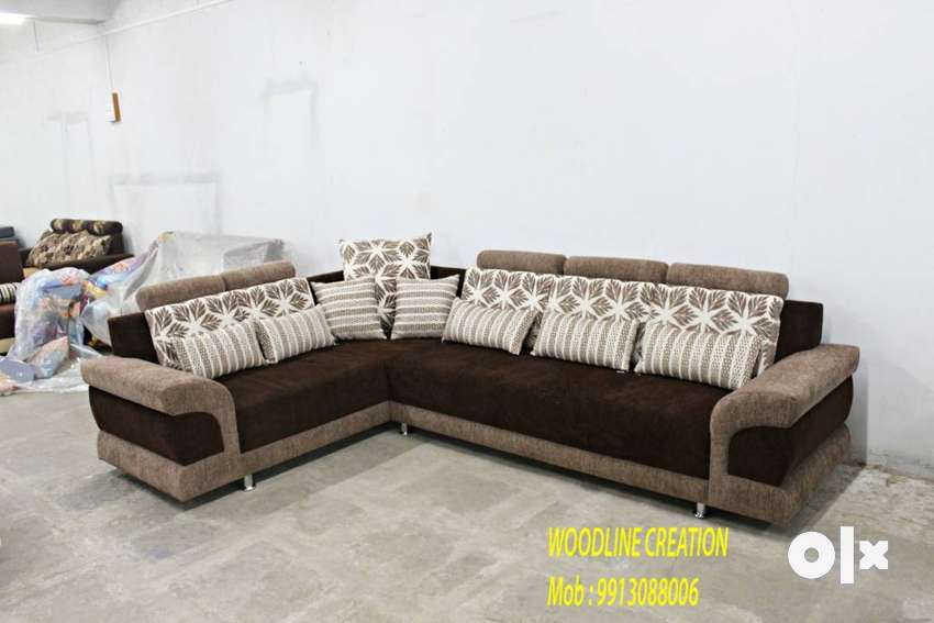 Brand New Sofa Set With 8 Free Throw Pillows Brown WDC-1005 0