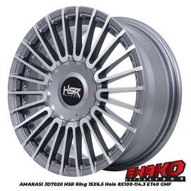 jual velg type hsr wheelAMARASI JD7020 HSR R15X65 H8X100-114,3 ET40 GM