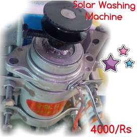 Solar Washing Machine, Works from Battery, Works from Solar Panel,