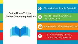 Online Home Tuition / Career Counseling Services