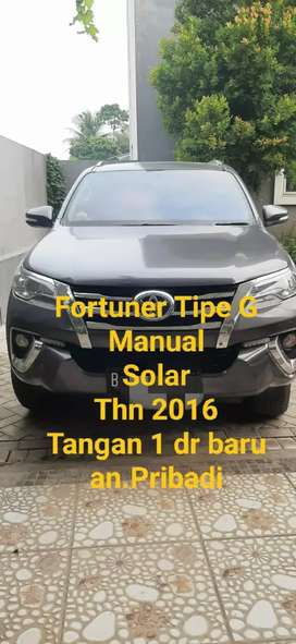Toyota Fortuner tipe G Diesel Thn 2016