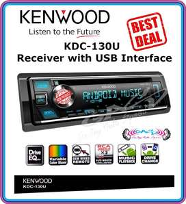 tape single din Head unit kenwood kdc 130u single din cd mp3 usb radio