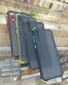 Casing anti Crack Bumper List warna Samsung A50 Case Bumper List Matte