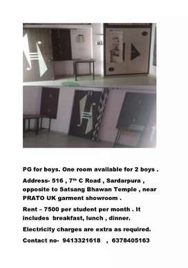 Pg available for boys student