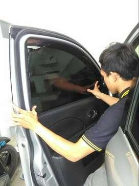 kaca film alarm remot sesnor parkir kamera peredam gps foglamp led hid
