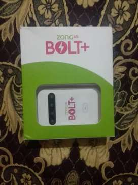 ZONG 4G'BOLT + Device only one month used.