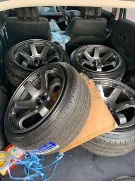 """Velg Rota TE Ring 17"""" Lebar 9/10 Belang Honda Toyota"""
