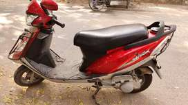 TVS Scooty streak Red