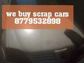 We buy old cars in scrap