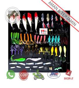 Umpan Pancing Ikan satu Set 100 PCS
