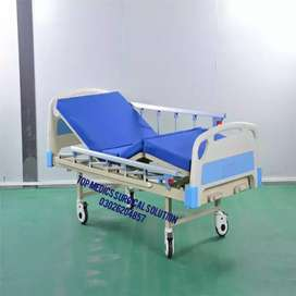 Hospital furniture two manual crank hospital bed/care bed for sale