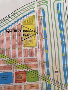 new deal Iqbal block 150 sqyds limited plots west open prime location