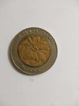 Uang 1000 rupiah kelapa sawit thn 1996  ...50.000 aja