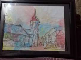 Water Color art painting