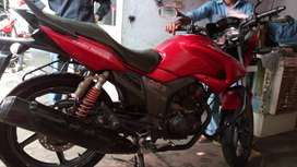 Red color bike Hero honda hunk perfect condition