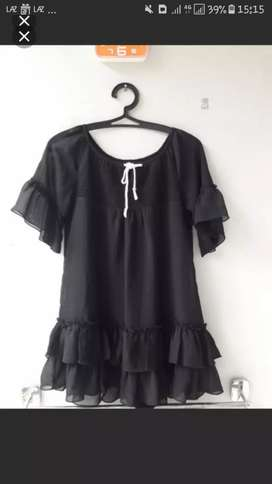 Black Peplum Top/blouse like new