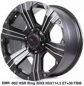 Velg Emr902 R20*9 H6*139 Black lip face
