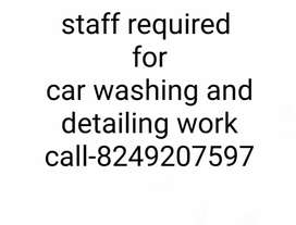 Staff required for car washing and CLEANING