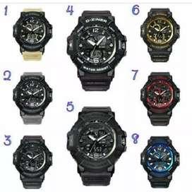 Jam tangan Dziner premi ori karet ruber import