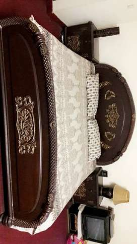 King Size Bed set with mattress.