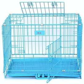 Powder Coated Iron Cage with Removable Tray for Puppy / Dog like new