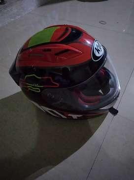 Helm kyt tropong warna merah