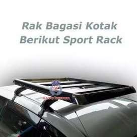 Sport rack barang paket komplit tatakan barang di atas mobil murah