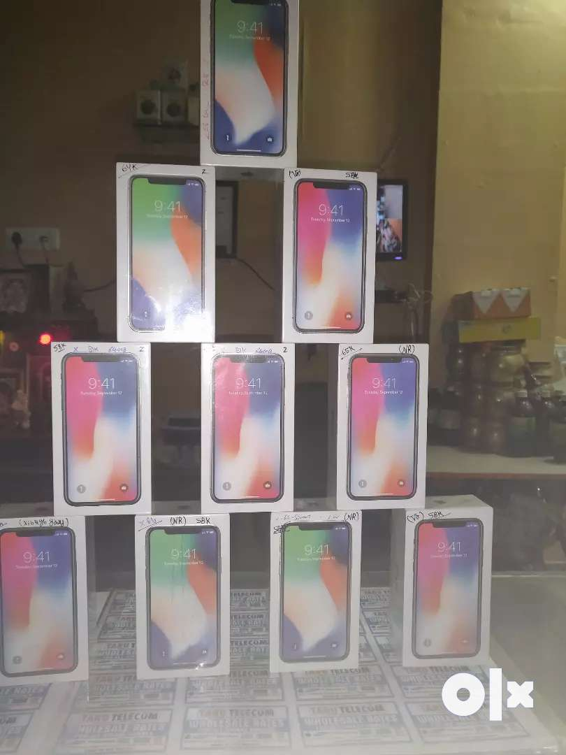 iPhone X 64GB space grey and silver brand new 0