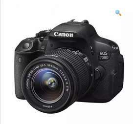 Canon 700D with 18.55 lens