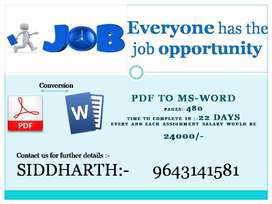 Hiring Employ for /typing job /Part time /required 2-3 hours