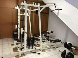Alat gym fitness Smith machine kombinasi