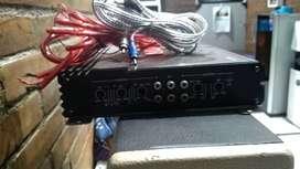 Power Amplifier dan subwoofer buat mobil komplit kabel rca dan sekreng