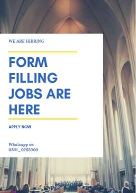 Form Filling job already available for everyone to do in part time