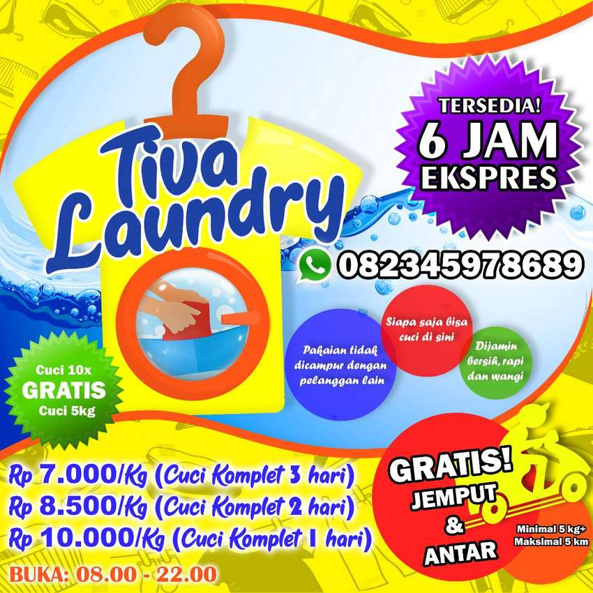 Tiva Laundry Manado (Gratis Jemput & Antar) 0