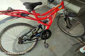 Dual sports suspension bicycle