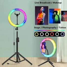 26 Cm Ring Light 15 Multiple Colours Shades with 7 Ft Tripod Stand