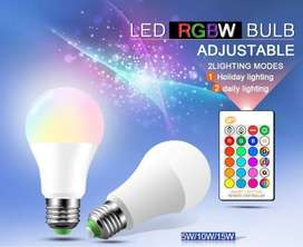 16 Color Changing 5W and 10W LED RGB Bulb with Remote