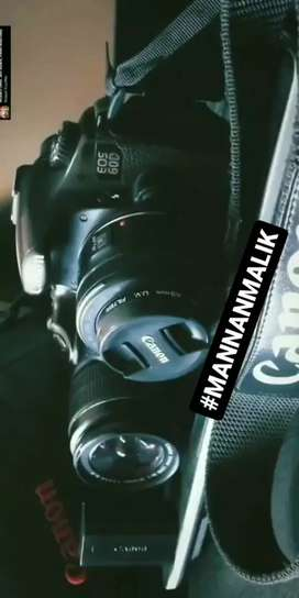 Canon 60D with 50mm lens and 75-300