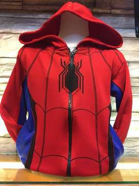 Jaket Anak Jacket Spiderman Merah Laba Laba