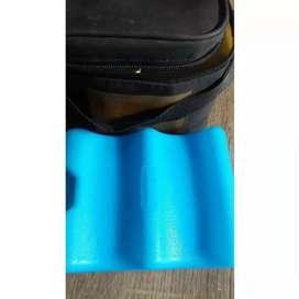 Cooler bag medela beserta botol susu medela dan ice gel medela asli