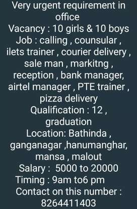 All types job avalabile plz contact us