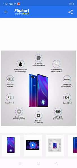 Oppo k1 4 gb ram 64internal