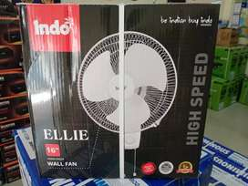 Indo wall Fan 16 inchi with 2 Years Warranty